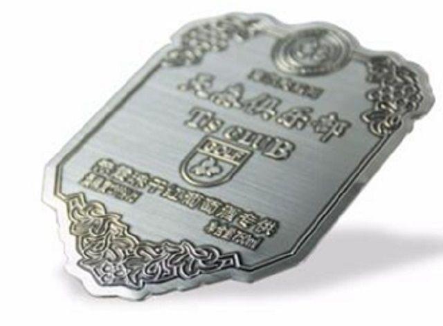 Custom metal label for perfume bottles