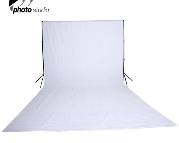 White Muslin Photography Backdrop