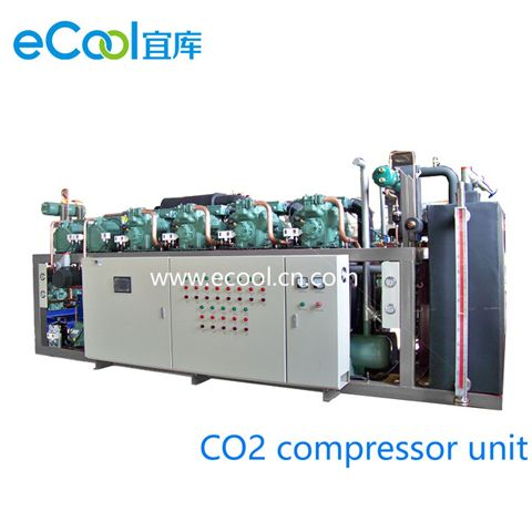 CO2 And Freon Cascade Compressor Unit