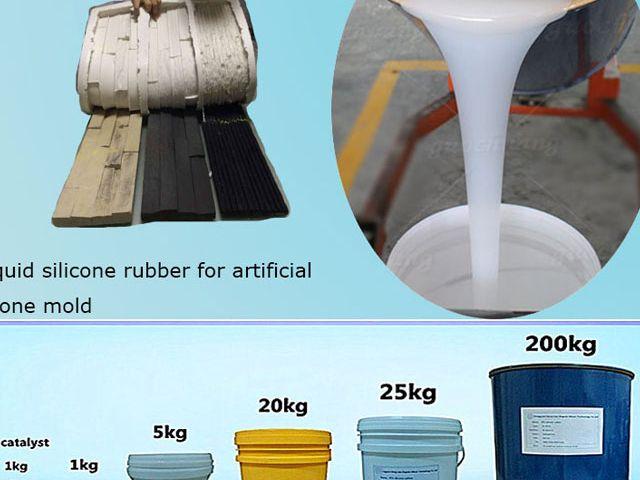 China liquid Silicone mold making material for concrete/artificial stone casting