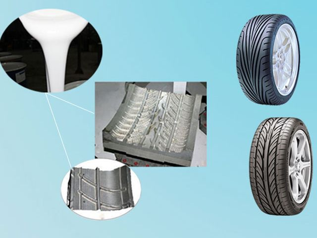 wholesale price 2 parts mould making silicone rubber liquid for Tire Molding