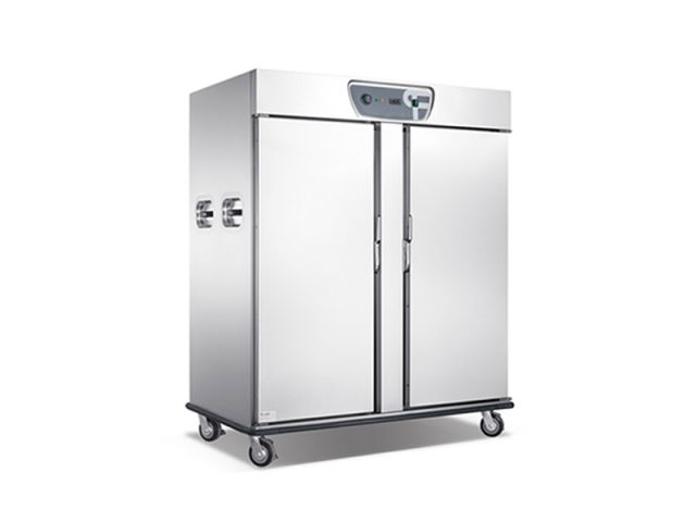Catering-Double-Temperature-Heated-Cold-Mobile-Food-Warmer-Holding-Cabinet-Car-For-Sale