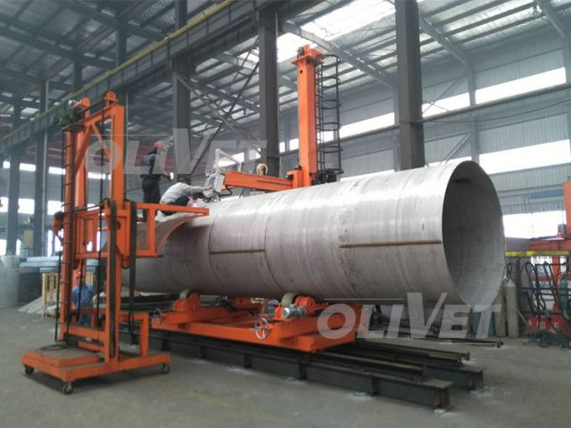 Stainless steel tank fit-up plasma welding center