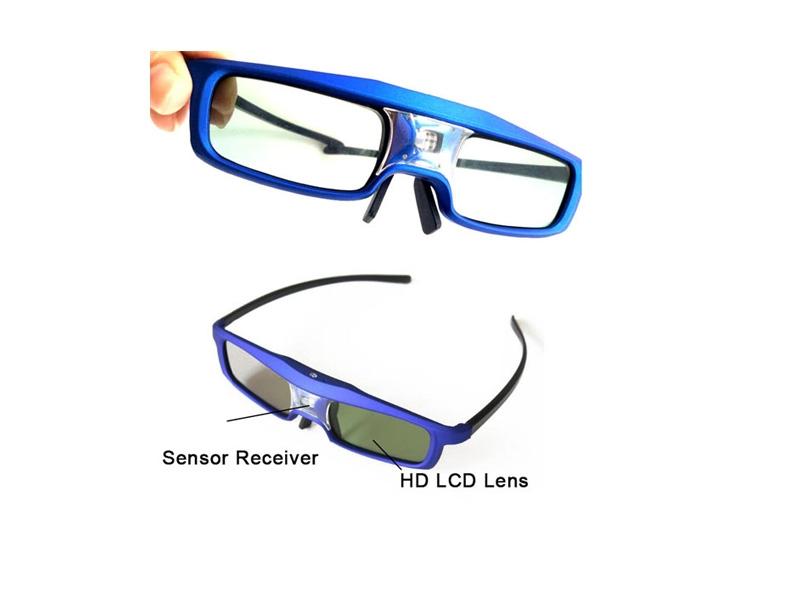 DLP Projector Shutter 3D Glass TV Side by Side 3D Glasses