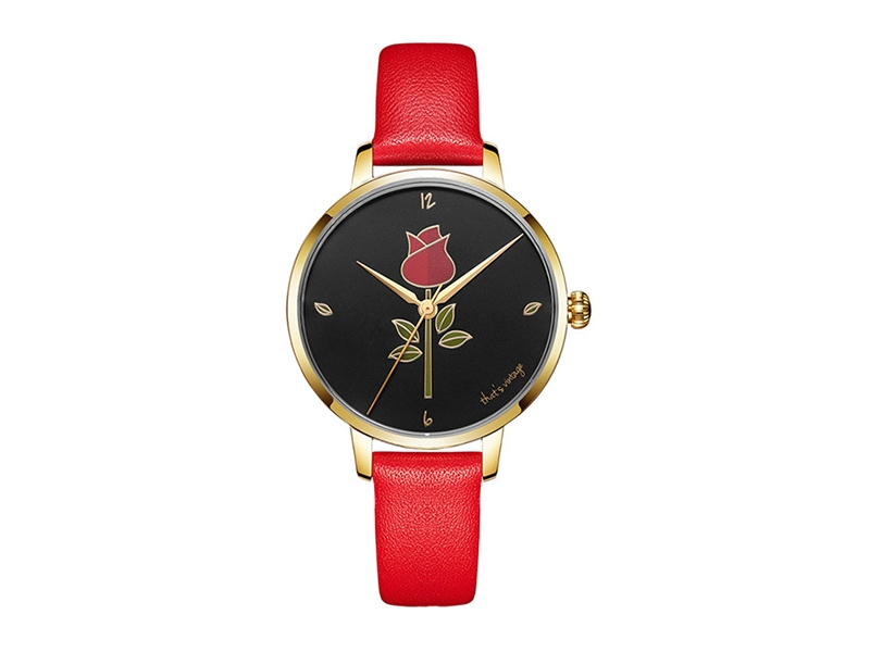 Vintage Rose Stainless Steel Lady Watch