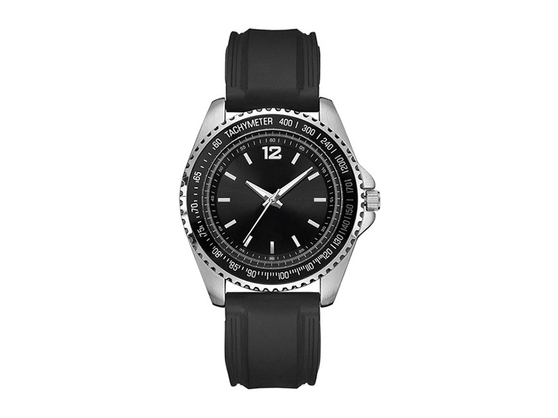 Tachymeter Promotional Men watch with Silicon Strap