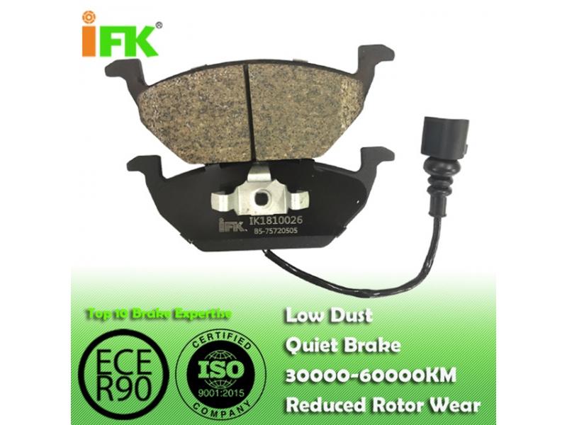 1J0698151D/GDB1386/D768 Semi-metallic/Low-metallic/NAO/Ceramic Disc brake p
