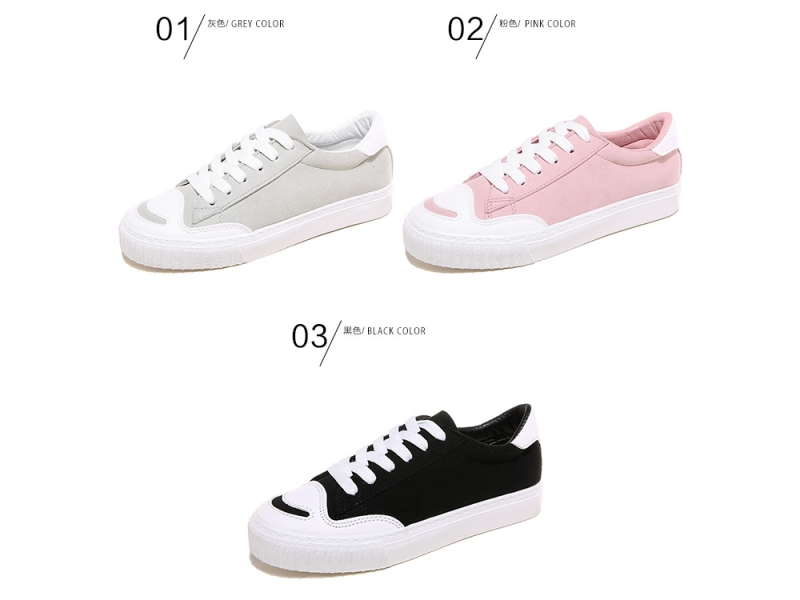 2018 China cheap canvas shoes classical female shoes fashion flat school shoesYB8936