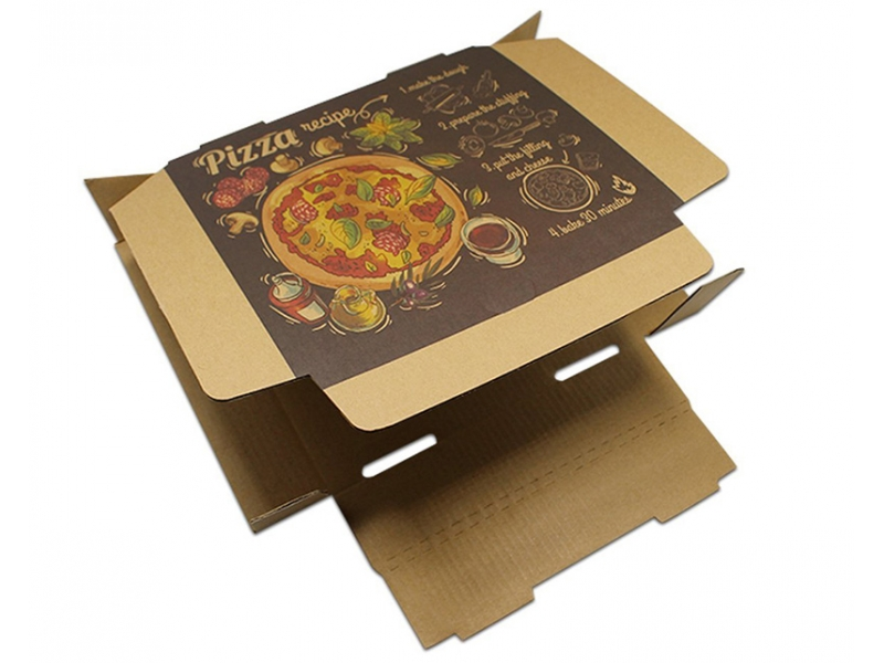 Custom Craft Paper Packaging Pizza Box