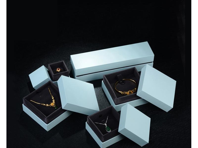 Custom Necklace Bracelet Ring Watch Jewellery Packing Box Velvet Insert Black Leatherette Paper Gift
